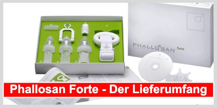 Phallosan Forte Lieferumfang
