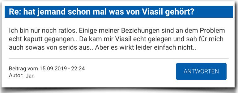 Viasil Erfahrungsbericht Bewertung Kritik Viasil