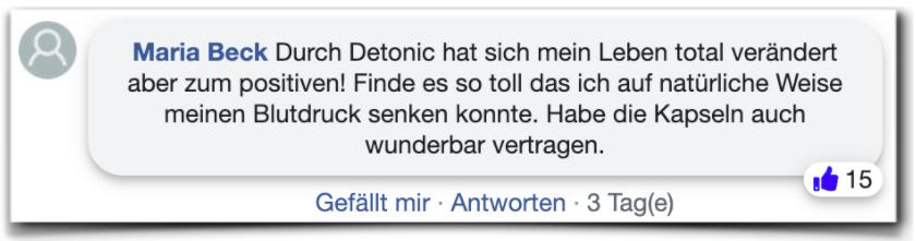Detonic Erfahrungsbericht Bewertung facebook