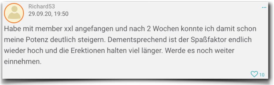 Member xxl Erfahrungsbericht Bewertungen member xxl
