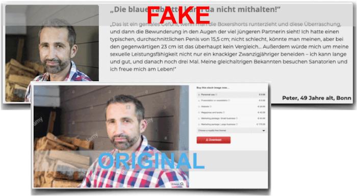 Erfahrungsbericht mit Fake und Original Foto Collosel