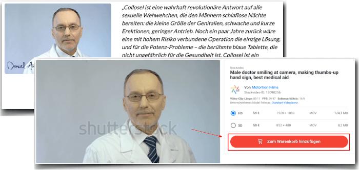 Fake Arzt Foto Collosel