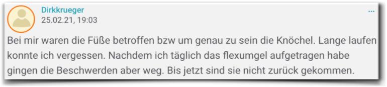Flexumgel Erfahrungsbericht Flexumgel