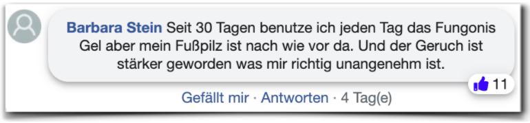Fungonis Gel Bewertungen Erfahrung facebook