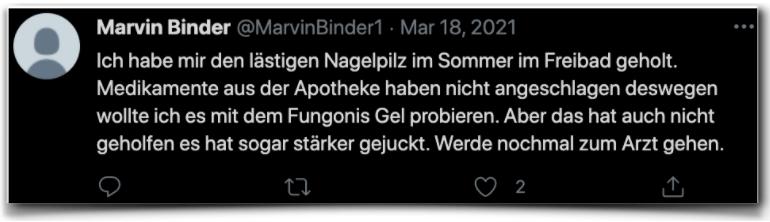 Fungonis Gel Erfahrungsberichte Kritik twitter