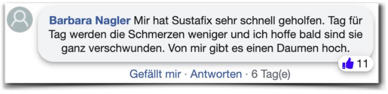 Sustafix Bewertungen facebook