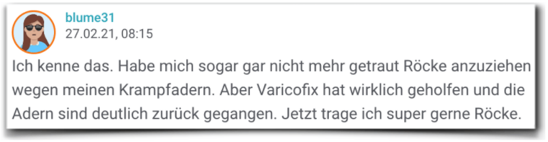 Varicofix Erfahrungsbericht Varicofix