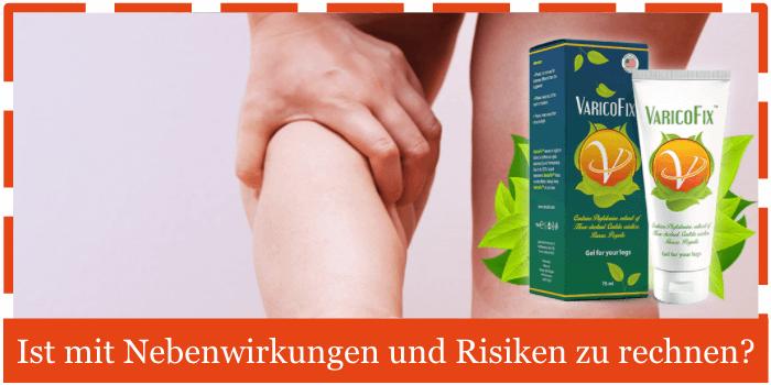 Varicofix Nebenwirkungen Risiken Unvertraeglichkeiten