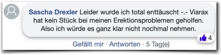Viarax Erfahrung Bewertung facebook